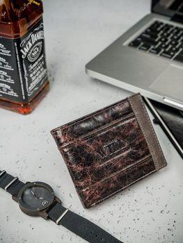 Hnedá pánska kožená peňaženka 3162