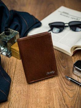 Hnedá pánska kožená peňaženka 4516