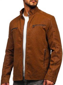 Hnedá pánska semišová bunda  Bolf EX927