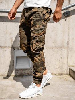Hnedé pánske kapsáčové joggery s opaskom Bolf CT6015