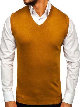 Kamelová pánska pletená vesta Bolf H1939