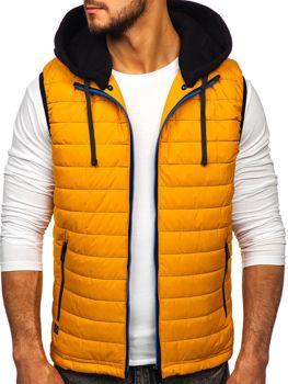 Kamelová pánska vesta s kapucňou Bolf 6102