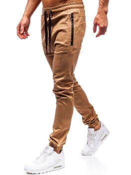 Kamelové pánske jogger nohavice BOLF 0803