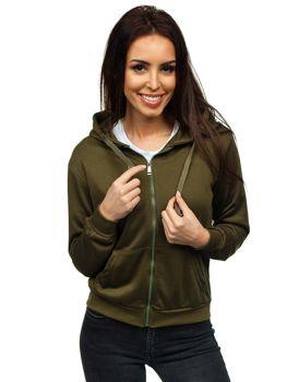 Khaki dámska mikina s kapucňou Bolf WB1005