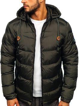 Khaki pánska prešívaná športová zimná bunda Bolf   50A156
