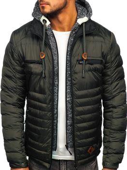 Khaki pánska športová zimná bunda Bolf 50A93