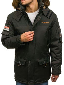Khaki pánska zimná bunda BOLF 40014