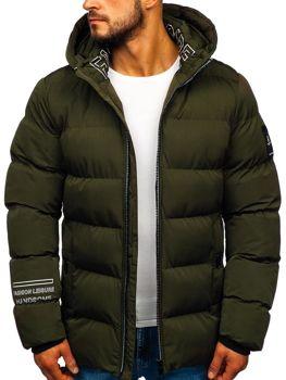 Khaki pánska zimná bunda Bolf 5973