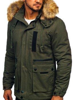 Khaki pánska zimná bunda Bolf JK323