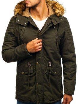 Khaki pánska zimná bunda parka BOLF 5810