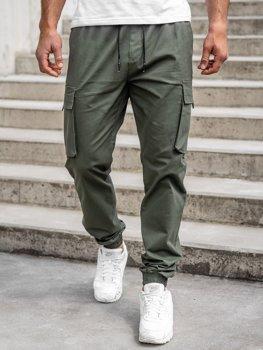 Khaki pánske kapsáčové joggery Bolf 701