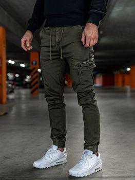Khaki pánske kapsáčové joggery Bolf KA528