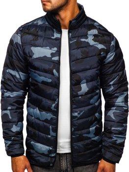 Maskáčovo-grafitová pánska zimná bunda BOLF SM32