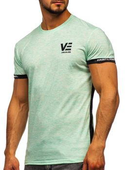 Mätové pánske tričko s potlačou Bolf SS11123
