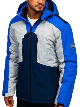 Modrá pánska lyžiarská bunda Bolf 1340