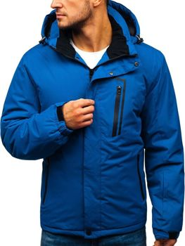 Modrá pánska lyžiarska zimná bunda BOLF HZ8107