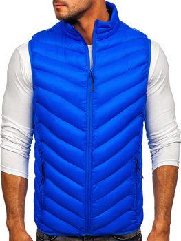 Modrá pánska prešívaná vesta Bolf HDL88006