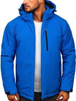 Modrá pánska športová lyžiarská zimná bunda Bolf HH011