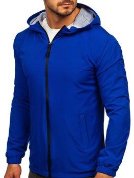 Modrá pánska športová vetrovková bunda Bolf HH035