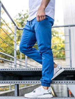 Modré pánske jogger nohavice BOLF 0449