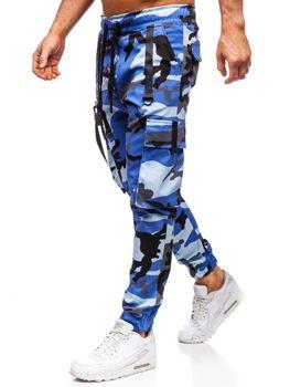Modré pánske kapsáčové joggery Bolf 11105
