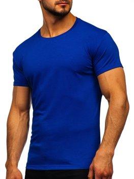 Modré pánske tričko bez potlače Bolf 2005