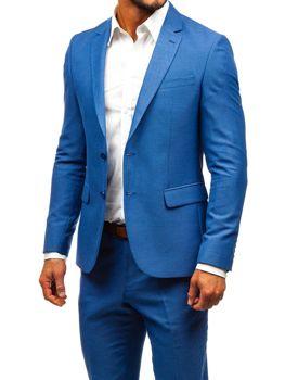 Modrý pánsky oblek BOLF 19200-1
