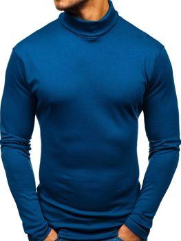 Modrý pánsky rolák bez potlače Bolf 145347