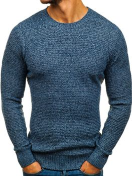 83e6d6589cbc Modrý pánsky sveter BOLF H1803