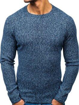 Modrý pánsky sveter BOLF H1810