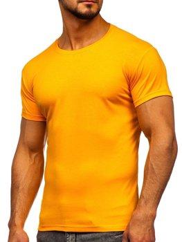 Oranžové pánske tričko bez potlače Bolf 2005