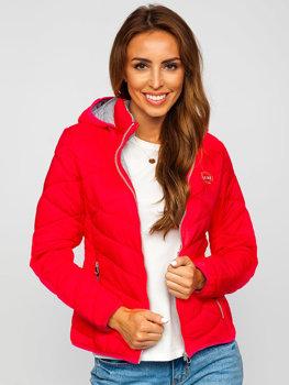 Ružová dámska zimná bunda Bolf AB027