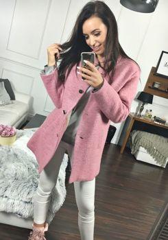 0ed309f782a8 Ružový dámsky kabát BOLF 1950