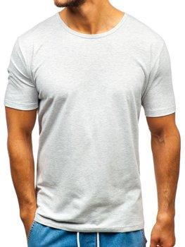Šedé pánske tričko bez potlače BOLF T1281