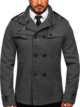 Šedý pánsky kabát BOLF 8857