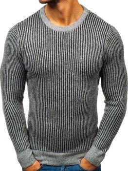 Šedý pánsky sveter BOLF H1818