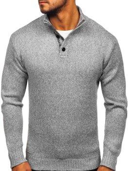 Šedý pánsky sveter Bolf P086