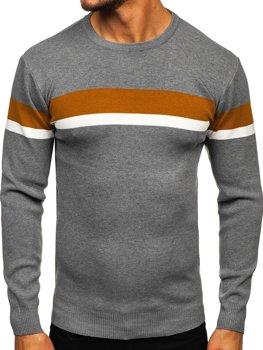 Sivý pánsky sveter Bolf H2072