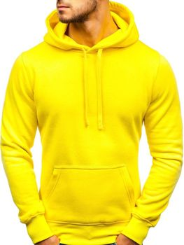 Svetlo žltá pánska mikina s kapucňou BOLF AK47A 92b0da9a22a