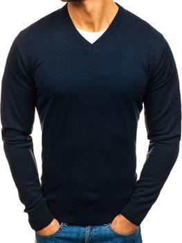 Tmavmodrý pánsky sveter BOLF 200
