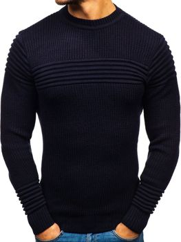 Tmavmodrý pánsky sveter BOLF 6004