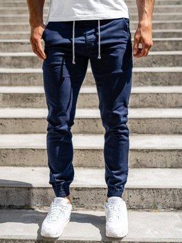 Tmavomobré pánske jogger nohavice Bolf CT8808