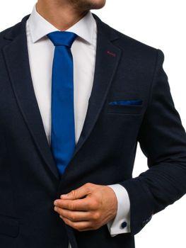 Tmavomodrá pánska sada: kravata, manžety, kapesník BOLF KSP01
