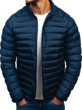 Tmavomodrá pánska športová zimná bunda BOLF SM53-A b4c6381bacd