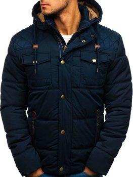 Tmavomodrá pánska zimná bunda BOLF 1665 fef5fcd9bc7