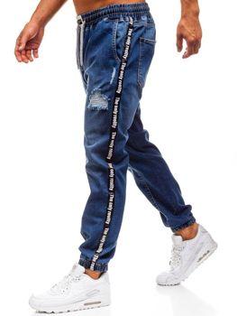Tmavomodré pánske riflové baggy nohavice BOLF 2045
