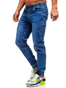 Tmavomodré pánske rifľové joggery Bolf HY679