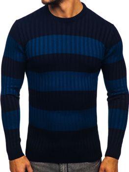 Tmavomodrý pánsky sveter Bolf 4516