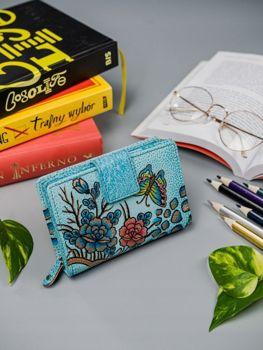 Viacfarebná dámska kožená peňaženka 8257