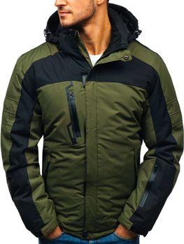 Zelená pánska lyžiarska zimná bunda BOLF HZ8112